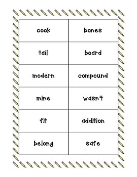 9th 100 Fry Words Flash Cards
