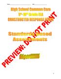 9th-10th Grade CCSS ELA Constructed Response Bundle