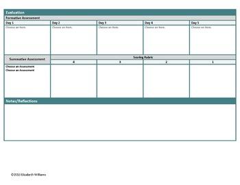 9th-10th Grade Common Core Interactive ELA Lesson Plan Templates