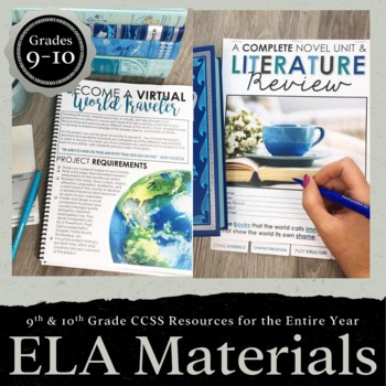 9th & 10th Grade English Language Arts Resources for ENTIRE School Year EDITABLE
