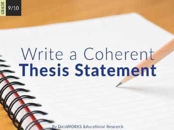 Write a Coherent Thesis (EDI)