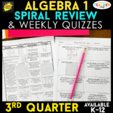 Algebra 1 Review | Homework or Warm Ups | 3rd Quarter