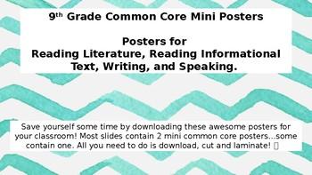 9th Grade Common Core Mini Posters