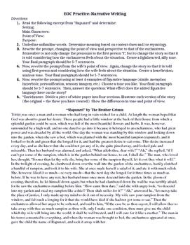9th Grade ELA EOC Narrative Practice