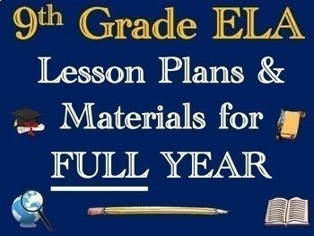 9th Grade English Annual Lesson Plan Bundle (Entire Year - 42 Weeks)