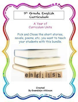 9th Grade English Curriculum Bundle 1