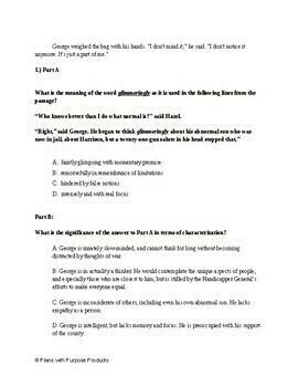 9th Grade English PARCC Practice & SAT Prep Test