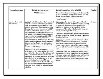 9th Grade Factoring Polynomials Lesson Plan