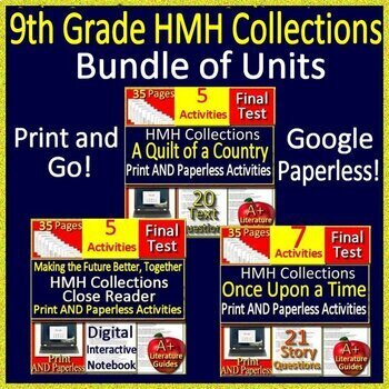9th Grade HMH Collections 1 - Finding Common Ground Literature Bundle - HRW