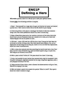 9th Grade Hero Project