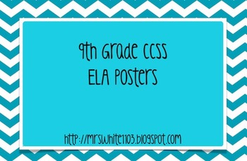 9th Grade Language Arts Common Core Posters (CCSS)