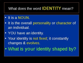 9th Grade PPT on Discovering Identity