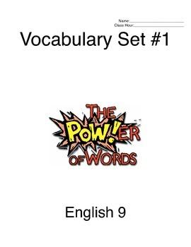 9th Grade SAT Vocabulary