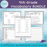 9th Grade Vocabulary BUNDLE