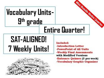 9th Grade Vocabulary-Mini Bundle (7 WEEKS!) (SAT-ALIGNED!)