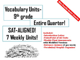 9th Grade Vocabulary-Mini Bundle (7 WEEKS!) (SAT-ALIGNED!)