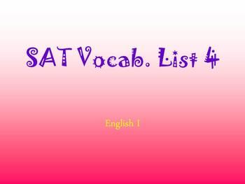 9th SAT List #4