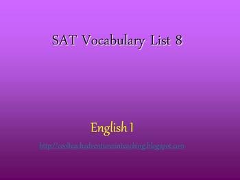 9th SAT Vocab List #8