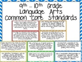9th and 10th Grade Common Core Standards- Language Arts Posters