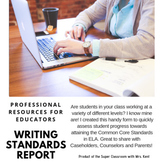 9th and 10th Grade Writing Standards Student Report