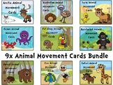 9x Animal Movement Card Bundle