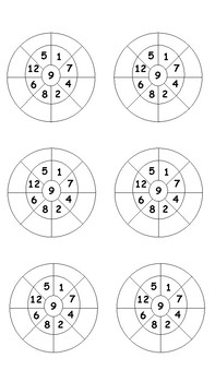 9x Multiplication Wheels