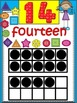 A+ 0-20 Math Number Posters With Ten Frames and Counting Buttons