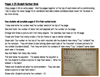 A 0-20 Student Number Book