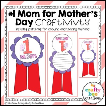 "Mother's Day ""#1 Mom"" Craftivity"