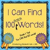 A 100 Days Activity: I Can Find 100 (Dolch) Words
