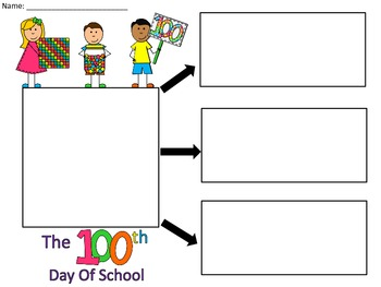 A+  100th Day Of School... Three Graphic Organizers
