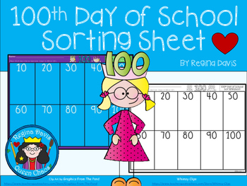 A+ 100th Day Sorting Sheet
