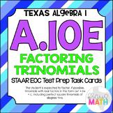 A.10E: Factoring Trinomials STAAR EOC Test-Prep Task Cards (Algebra 1)