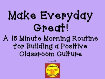 Morning Routine for Building a Positive Classroom Culture
