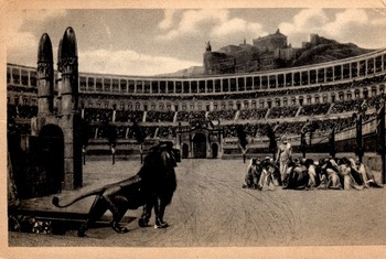 A 1913 Vatican Postcard Christians and Lions  For Class Di