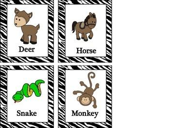 A 2 Z Animals - a alphabetical order center