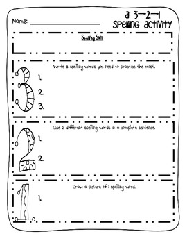 A 3-2-1 Activity Packet