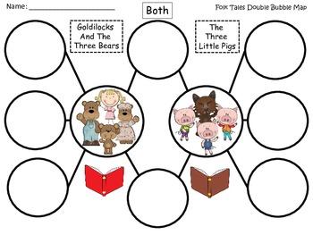A+ 3 Bears & 3 Little Pigs Double Bubble: Words,Sentences & Pictures