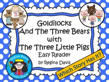 A+ 3 Bears & 3 Little Pigs Easy Reader With Moving Pictures