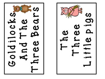A+ 3 Bears & 3 Little Pigs: Picture Sorting Cards