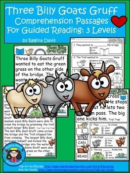 A+ 3 Billy Goats Gruff Comprehension:Differentiated Instru