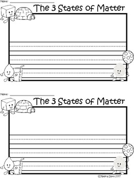 A+ 3 States Of Matter ... Writing Paper