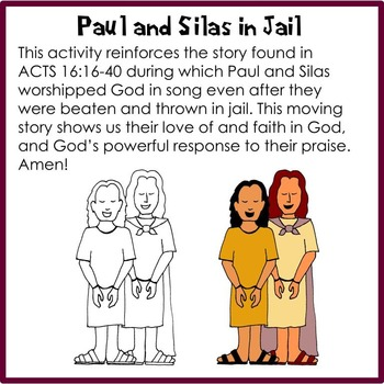paul and silas in prison activities
