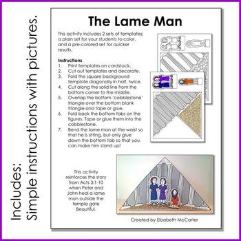 Peter Heals a Lame Man Triorama Bible Craft