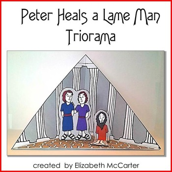 Peter Heals a Lame Man Triorama Bible Craft
