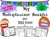 A Multiplication Skills Mini Booklet for Big Kids IB PYP Aligned