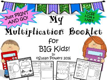 A Multiplication Skills Mini Booklet for Big Kids