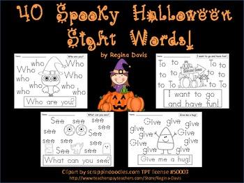 A+ 40 Spooky Halloween Sight Words