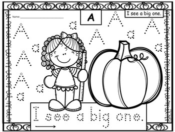 A+ 50 Kindergarten Sight Words: PUMPKIN Theme Handwriting Practice