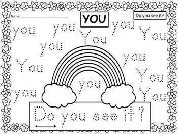 A+ 50 Kindergarten Sight Words: Spring Handwriting Practice